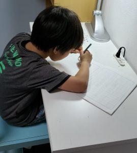 紙を斜めにして書く